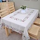hesapli Masa / Sehpa Örtüleri-Keten Masa Örtüleri Çiçekli / Nakışlı Masa Süslemeleri 1 pcs
