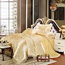 preiswerte Schonbezüge-Bettbezug-Sets geometrischer Jacquard aus Seide / Baumwollgemisch 4-teilige Bettwäschesätze />800 König
