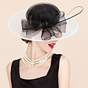 cheap Wedding Shoes-Tulle / Flax Hats / Headwear with Floral 1pc Wedding / Special Occasion / Casual Headpiece