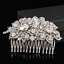 cheap Party Headpieces-Rhinestone Alloy Hair Combs Headwear with Floral 1pc Wedding Special Occasion Headpiece