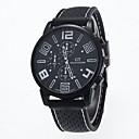 baratos Relógio Elegante-Homens Relógio de Pulso Relógio Casual Silicone Banda Amuleto Preta / SODA AG4