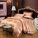 זול כלי אוכל-סטי שמיכה פרחוני פאר 4 חלקים 100% טנסל ג'אקארד 100% טנסל כריות מיטה 2 יחידות כרית מיטה יחידה 1 סדין יחידה 1
