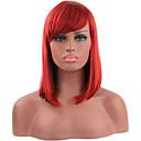 abordables Pelucas para Disfraz-Pelucas sintéticas Recto Pelo sintético Rojo Peluca Mujer Corta Sin Tapa