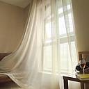 halpa Harsoverhot-Läpinäkyvät verhot Shades Living Room Ruutu / skotti Polyester / puuvillaseos Jakardi