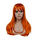 preiswerte Kostümperücke-Synthetische Perücken / Perücken Glatt Synthetische Haare Rot Perücke Damen Lang Kappenlos Orange