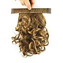 hesapli Bonesiz-Klipsli At Kuyrukları Elastik Etrafına sarmak Sentetik Saç Saç Parçası Ek saç Bukle