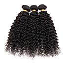 preiswerte Echthaar Strähnen-3 Bündel Peruanisches Haar Locken Kinky Curly Curly Webart 10A Cabello Natural Remy Menschenhaar spinnt Menschliches Haar Webarten Haarverlängerungen / Kinky-Curly