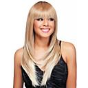 זול שרשרת אופנתית-פאות סינתטיות ישר שיער סינטטי שיער אומבר / שורשים כהים / שיער טבעי בלונד פאה בגדי ריקוד נשים בינוני ללא מכסה