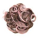 billige Hårstykker-Syntetiske parykker / Hårknuter Klassisk Lagvis frisyre Syntetisk hår Parykk Rosa