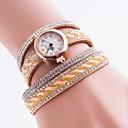 baratos Relógios da Moda-Mulheres Bracele Relógio / Simulado Diamante Relógio Relógio Casual / imitação de diamante PU Banda Boêmio / Fashion Cores Múltiplas