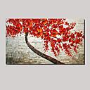baratos Pinturas Florais/Botânicas-Pintura a Óleo Pintados à mão - Vida Imóvel / Floral / Botânico Pastoril / Modern Tela de pintura