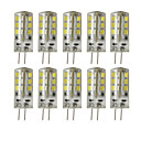 abordables Rociador Ducha LED-10pcs 3W 200-250 lm G4 Luces LED de Doble Pin T 24 leds SMD 2835 Regulable Decorativa Blanco Cálido Blanco Fresco DC 12V