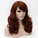 cheap LED Smart Bulbs-Synthetic Wig Curly Asymmetrical Haircut / With Bangs Synthetic Hair Natural Hairline Brown Wig Women's Long Capless