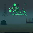 preiswerte Wand-Sticker-Landschaft Tiere Menschen Stillleben Romantik Mode Formen Fantasie Freizeit Cartoon Design Feiertage Retro Wand-Sticker Leuchtende Wand