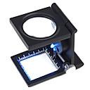 hesapli Diğer Parçalar-Büyüteçler / Mikroskop Mücevher / Saat Tamiri Yüksek Tanımlama / Elde Taşınabilir / LED / Katlama 10 30mm Normal Metal