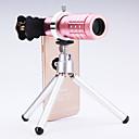 tanie Statywy na telefony komórkowe-Uniwersalny obiektyw 12 x teleskop dla telefonów komórkowych iPhone / Samsung srebrny / złoty / różowy / czarny