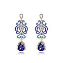 preiswerte Modische Ohrringe-Damen Kristall Ohrring - Modisch Silber / Blau Für Hochzeit / Party / Alltag / Diamant / Multi-Stein / Zirkon
