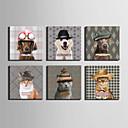 preiswerte Kunstdrucke-Tiere Modern Europäischer Stil, Ein Panel Segeltuch Quadratisch Druck Wand Dekoration Haus Dekoration