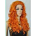 cheap Kids Halloween Costumes-cosplay wig merida brave movie disguise 24 long orange curl hair cosplay wig Halloween