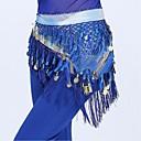 رخيصةأون اكسسوارات الرقص-رقص شرقي حزام للمرأة أداء بوليستر شرابة حزام