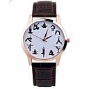 abordables Relojes de Moda-Mujer Reloj de Pulsera Cronógrafo Piel Banda Destello / Moda Negro / Blanco / Marrón