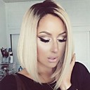 cheap Synthetic Capless Wigs-2016 new style blonde color synthetic lace front wig bob wigs for black women