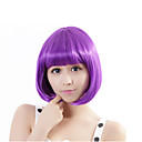 cheap Synthetic Capless Wigs-Synthetic Wig Straight Bob Haircut Synthetic Hair Purple Wig Women's Capless