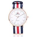 abordables Relojes de Vestir-SOXY Hombre Reloj de Moda Cuarzo Reloj Casual Acero Inoxidable Banda Analógico Encanto Negro / Blanco / Caqui - Blanco Beige Rojo