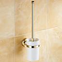 abordables Sets de Herramientas-Soporte para Cepillo de Baño Clásico Latón 1 pieza - Baño del hotel