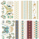 preiswerte Temporäre Tattoos-Non Toxic / Waterproof / Metallic Hände / Arm Temporary Tattoos 4 pcs Regenbogen Körperkunst