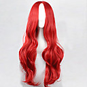 cheap Hair Accessories-Synthetic Wig Curly / Loose Wave / Natural Wave Asymmetrical Haircut Synthetic Hair 25 inch Natural Hairline Red Wig Women's Long Capless Red