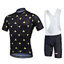 cheap Cycling Jersey & Shorts / Pants Sets-Fastcute Men's Short Sleeve Cycling Jersey with Bib Shorts - Black Bike Bib Tights / Jersey / Clothing Suits, Quick Dry, Breathable