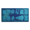 baratos Extratores-Nail Art Stamping Placa Stamper raspador 12.7*6.7cm