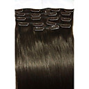 olcso Csatos póthajak-Felcsatolható Human Hair Extensions Egyenes Emberi haj Női Napi