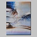 tanie Obrazy: abstrakcja-Hang-Malowane obraz olejny Ręcznie malowane - Abstrakcja Nowoczesny Z ramą