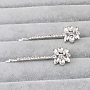 cheap Party Headpieces-Rhinestone Hair Pin 1 Wedding / Special Occasion / Office & Career Headpiece