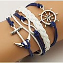 cheap Bracelets-Men's / Women's Wrap Bracelet / Loom Bracelet - Anchor Bohemian, Double-layer Bracelet Blue For Daily / Casual