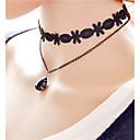preiswerte Halsbänder-Damen Kristall Anhängerketten - Krystall, Spitze Blume Personalisiert, Retro, Böhmische Schwarz Modische Halsketten Für Party, Alltag, Normal