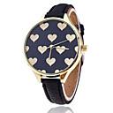 baratos Relógios da Moda-Mulheres Relógio de Pulso Venda imperdível / / Couro Banda Heart Shape / Casual / Fashion Preta / Branco / Um ano / Tianqiu 377