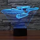 baratos Lâmpadas de LED-Warship touch dimming 3d led night light 7colorful decoração atmosfera lâmpada novidade iluminação luz