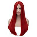 זול סטים של ביגוד לבנות-פאות סינתטיות / פאות לתחפושות שיער סינטטי אדום פאה בגדי ריקוד נשים ארוך ללא מכסה אדום