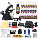 cheap Starter Tattoo Kits-Tattoo Machine Starter Kit, 1 pcs Tattoo Machines with 28 x 5 ml tattoo inks - 1 alloy machine liner & shader Professional