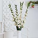 baratos Flor artificiali-Flores artificiais 1pcs Ramo Pastoril Estilo Orquideas Flor de Mesa