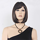 cheap Synthetic Capless Wigs-Synthetic Wig Straight Bob Haircut / With Bangs Synthetic Hair Brown Wig Women's Short Capless