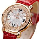 baratos Relógios da Moda-Mulheres imitação de diamante PU Banda Vintage / Fashion Preta / Branco / Vermelho / Um ano