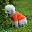 povoljno Odjeća za psa-Pas T-majica Odjeća za psa Jednobojni Bijela Crvena Zelen Plava Pink Pamuk Kostim Za kućne ljubimce Muškarci Žene Ležerno/za svaki dan