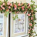 abordables Flores Artificiales-1 Rama Seda Rosas Flor de Pared Flores Artificiales