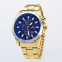 cheap Dress Watches-Men's Quartz Wrist Watch / Casual Watch Alloy Band Casual Dress Watch Gold