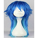 halpa Rooliasu peruukki-Synteettiset peruukit Suora Tyyli Suojuksettomat Peruukki Ombre Sininen Synteettiset hiukset Naisten Liukuvärjätyt hiukset Ombre Peruukki hairjoy Cosplay-peruukki