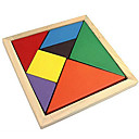 cheap Wooden Puzzles-Tangram Jigsaw Puzzle Wooden Puzzle Educational Toy Colorful Wooden Classic & Timeless Girls' Gift